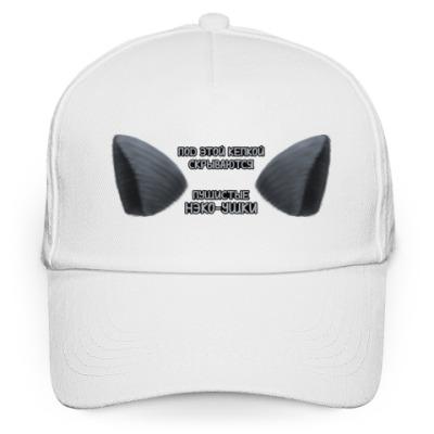 Кепка бейсболка Нэко-ушки чёрные