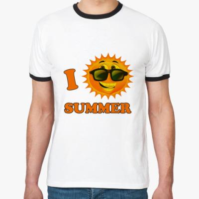 Футболка Ringer-T Обожаю лето!