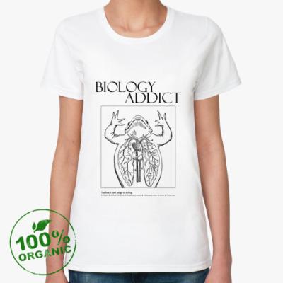 Женская футболка из органик-хлопка Biology Addict