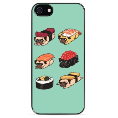 Чехол для iPhone Суши мопс