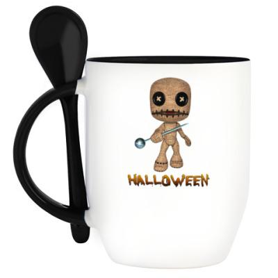 Кружка с ложкой Хеллоуин