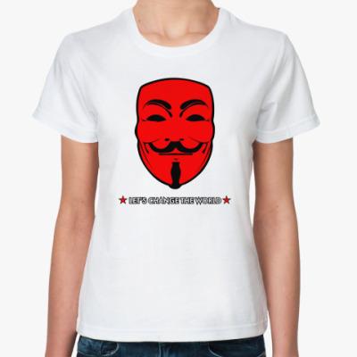 Классическая футболка ' Анонимус'