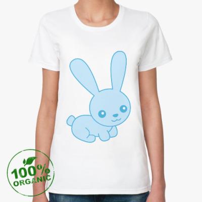 Женская футболка из органик-хлопка Зайка