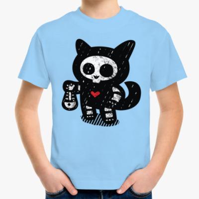 Детская футболка Кот рыболов