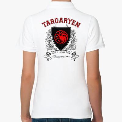 Женская рубашка поло House Targaryen