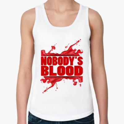 Женская майка Кровавая надпись