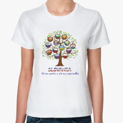 Классическая футболка Tree Slovania