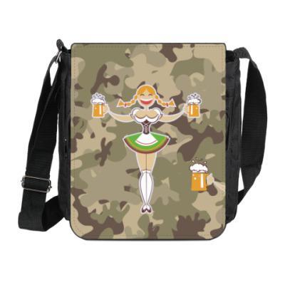 Сумка на плечо (мини-планшет) Девушка с пивом