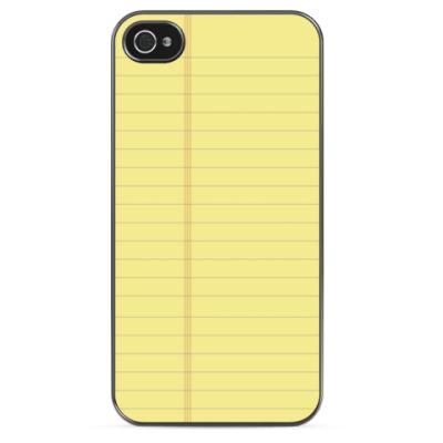 Чехол для iPhone Блокнот
