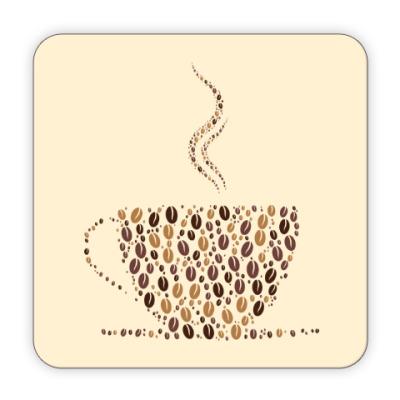 Костер (подставка под кружку) Кофе из кофейных зерен