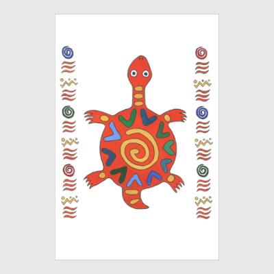 Постер черепашка из Африки