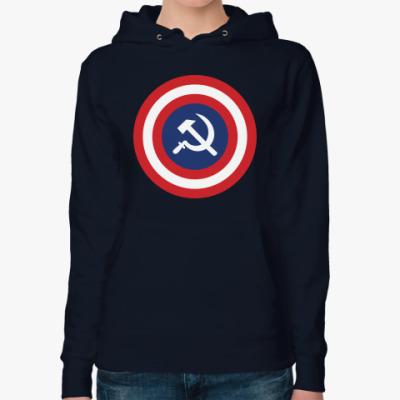Женская толстовка худи Капитан СССР
