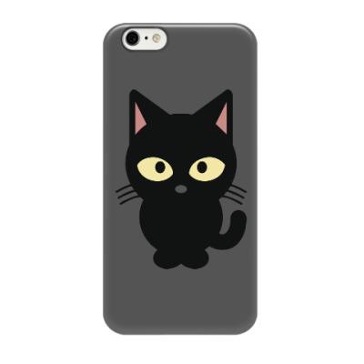 Чехол для iPhone 6/6s Черный Котик