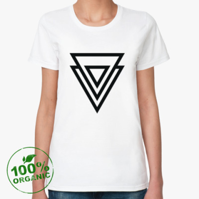 Женская футболка из органик-хлопка Double Triangle