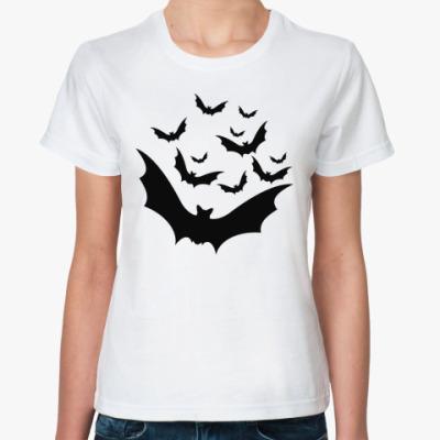 Классическая футболка Летучие мыши на Halloween