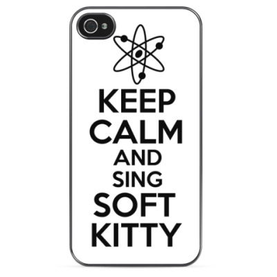 Чехол для iPhone Keep calm and sing SOFT KITTY