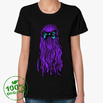Женская футболка из органик-хлопка Девушка
