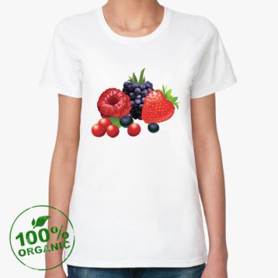 Женская футболка из органик-хлопка Ягоды