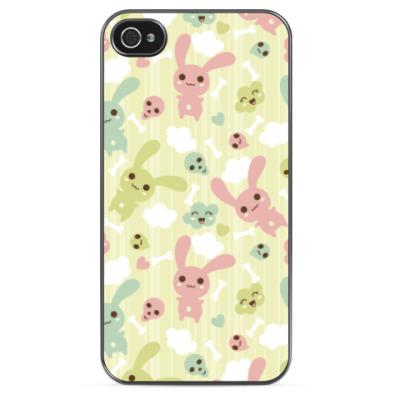 Чехол для iPhone Kawaii rabbits