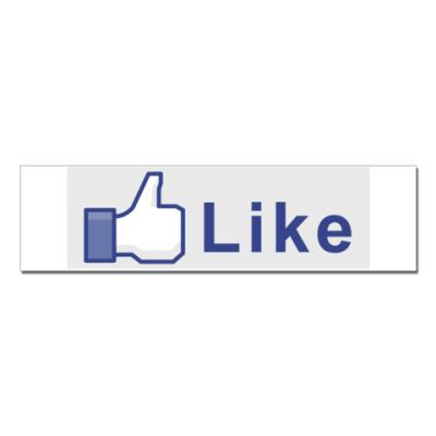 Наклейка (стикер) like Facebook