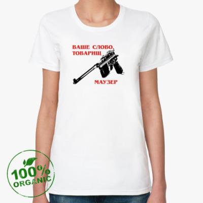 Женская футболка из органик-хлопка маузер