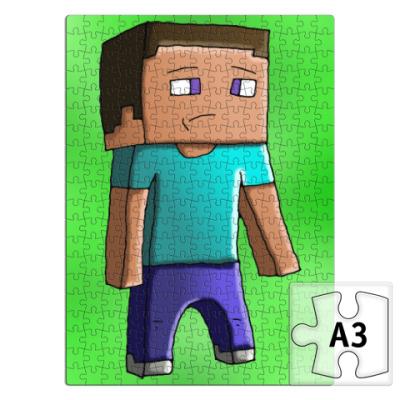 Пазл Minecraft Steve