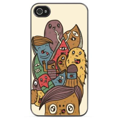 Чехол для iPhone Happy Monsters