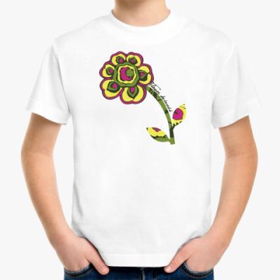 Детская футболка цветочная принцесса