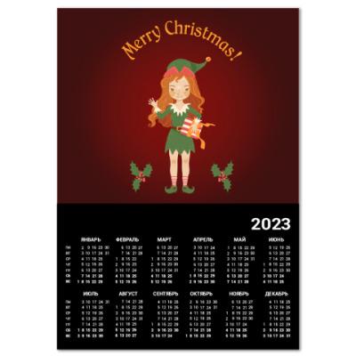 Календарь Рождественский эльф