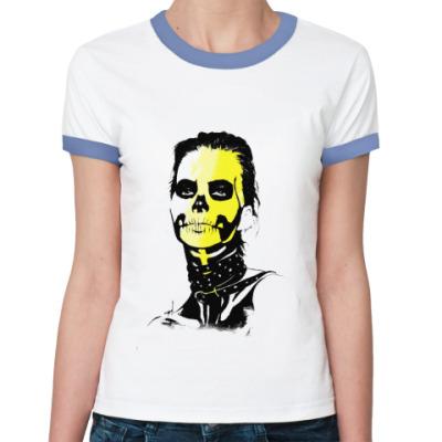Женская футболка Ringer-T Sugar skull