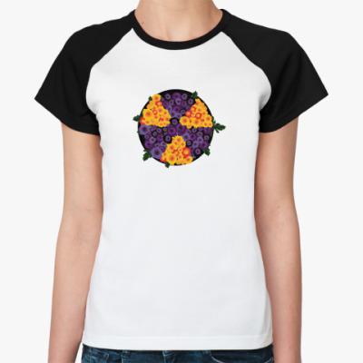 Женская футболка реглан Ядерный букет
