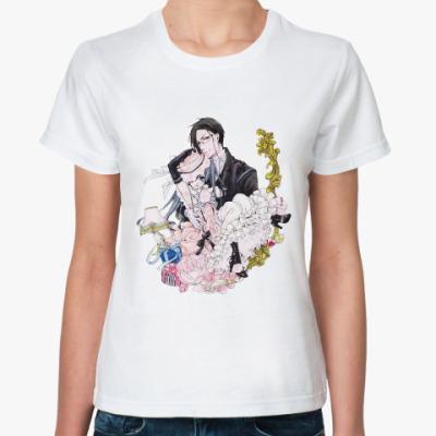 Классическая футболка Тёмный дворецкий  Kuroshitsuji