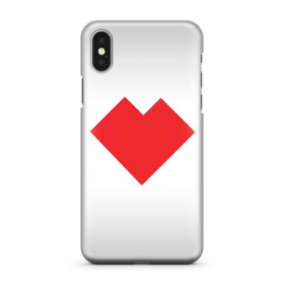 Чехол для iPhone X Сердце танграм