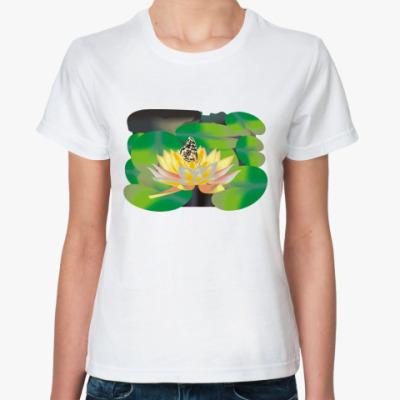 Классическая футболка Бабочка и Лотос