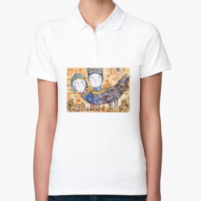 Женская рубашка поло Птица Мифическая