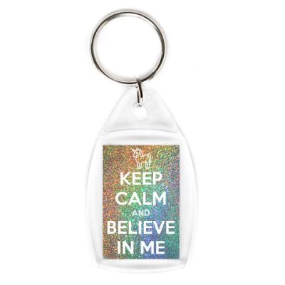 Брелок Keep calm and believe