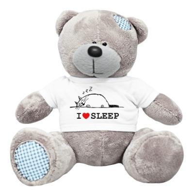 Плюшевый мишка Тедди Я люблю спать
