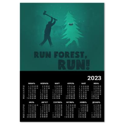 Календарь Run forest run! New Year