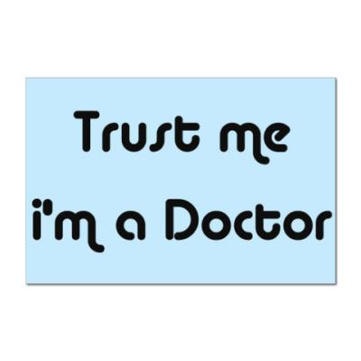 Наклейка (стикер) Trust me i'm a Doctor