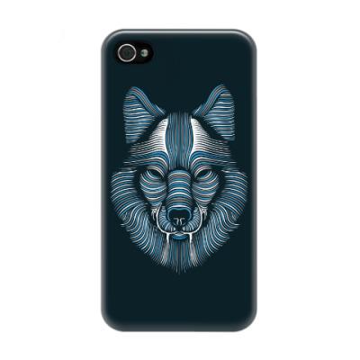 Чехол для iPhone 4/4s Волк