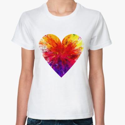Классическая футболка Сердечко