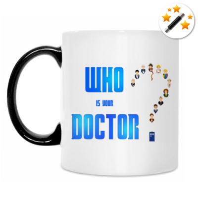 Кружка-хамелеон Кто твой Доктор?