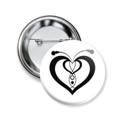 Значок 50мм Сердца