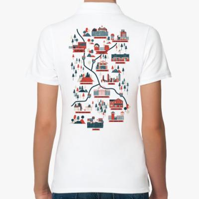 Женская рубашка поло Карта сериала Ходячие мертвецы