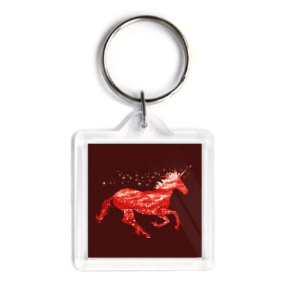 Брелок Рубиновый Единорог