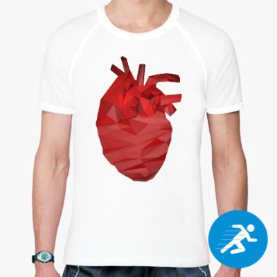 Спортивная футболка Сердце 3D