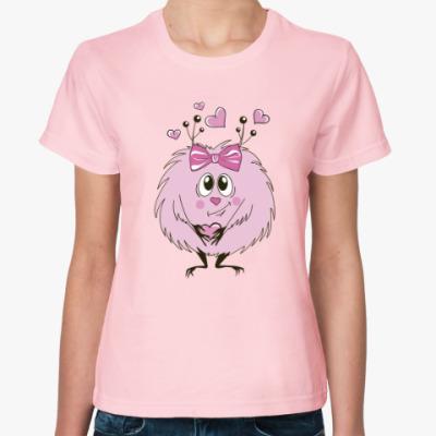 Женская футболка Розовый пушистик