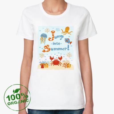Женская футболка из органик-хлопка Jump into summer!