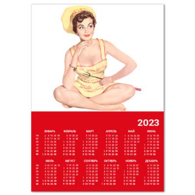 Календарь  A4 Девушка №6*11