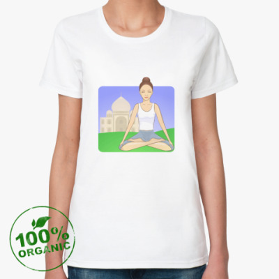 Женская футболка из органик-хлопка Медитация